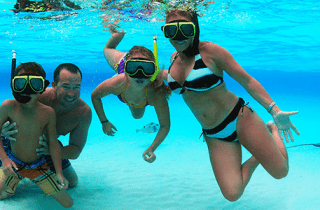 Crystal Charters Cayman Snorkel Family