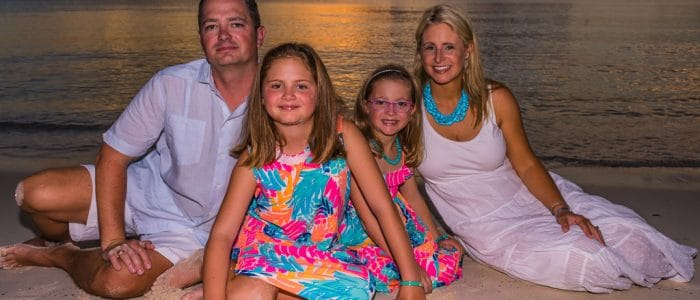 Family portrait sunset photography with Crystal Charters