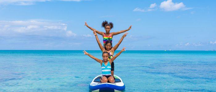 Girls On Paddleboard Grand Cayman