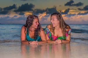 Having a laugh - Sunset Photo Sessions with Crystal Charters