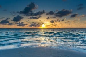 Sunset at starfish point with Cayman Crystal Charters