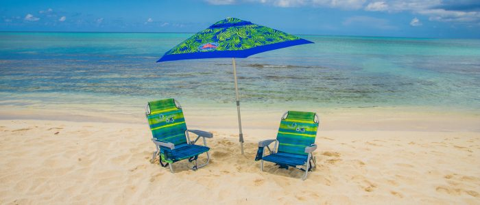 Beach chairs Crystal Charters Cayman